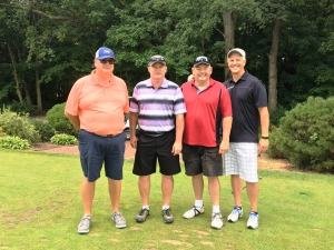 Golf Outing - Mike Kateley, Al Henderson, Skip Lampman '80, Art Preuss '80