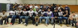 FB team assembly with plaque