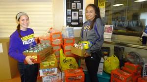 RLHS Fall Food drive 2015 - Megan Taleck and Julia Rosenquist